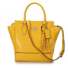 Coach Legacy Tanner Small Yellow Crossbody Bags AAG