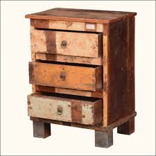 large size of nightstands reclaimed rustic end table finish in distressed paint having three chest