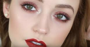 warm red easy eye makeup for green eyes makeup tutorials guide