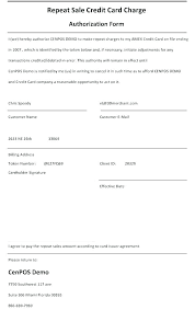 Credit Card On File Form Templates Authorization To Charge Credit Card Template