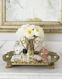 Bathroom Vanity Tray Decor A Lustrous and Luxurious Bathroom Perfume tray Scalloped edge 46