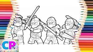 Lego Ninjago Coloring Pages, Coloring Pages Tv, Ninjago Ready for Action -  YouTube