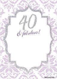 40th Birthday Invitations Free Templates Free Free Printable 40th Birthday Invitations Invites
