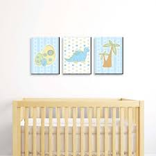 Adding a graphic wallpaper behind the crib is a great way to make a statement in your son's nursery. Boys Nursery Wall Decor Target