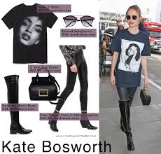 kate bosworth wears a sade t shirt by supreme while making her way through lax