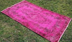 overdyed pink rug pink vintage area rug light pink overdyed rug