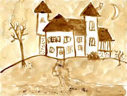 art projects for kids coffee painting maybe good for around to paint haunted houses