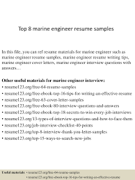 Marine Chief Engineer Resume Sample Resume For Your Job Application