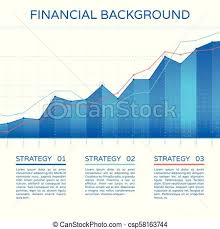 Economic Chart Growth Chart Economy Concept Statistics Business Graph Vector Financial Markets Background