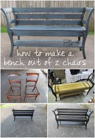 how to make a double chair bench using repurposed chairs the step by step tutorial