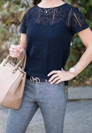 navy gray together for work outfit