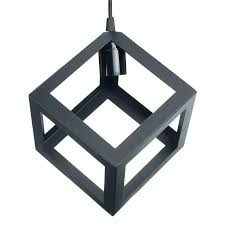large white lamp shade square lamp shade loft industrial retro metal iron pendant lamp shade village