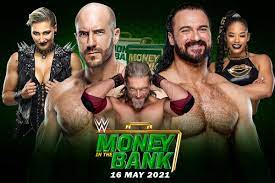WWE MONEY IN THE BANK 2021- Match Card ...