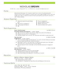 The Sample Of Resume Sample Simple Sample Resumes Free Career Resume Template 1