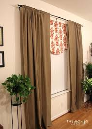swing rods for curtains curtains stunning brown long rustic fabric tension rod curtains swing ideas tension