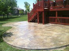 stained concrete patio. Fine Patio Stamped U0026 Stained Concrete Patio With Patio E
