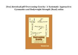 Overcoming Gravity Progression Chart Overcoming Gravity Steven Low Pdf Download Upprevention Org