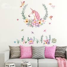 24 unicorn wall decals girls bedroom wall stickers room wall decor