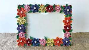 how to create a colorful fl photo frame diy crafts tutorial guidecentral you