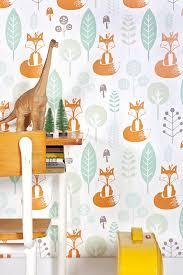 Roodborstjeeu Behang Ilustrations Baby Room Kinderkamer
