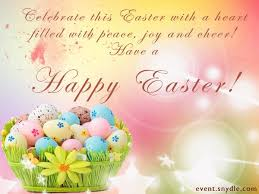 Easter Greeting Card Template Best Happy Easter To My Family And Friends God Bless Us With Love Peace
