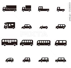 いろいろな種類の車アイコンのイラスト素材 15283933 Pixta