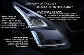 Cadillac Cts Lights Breaking Down Cadillacs New Headlamp Design
