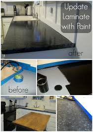 Black Painted Countertop Makeover. Yes, please! Great DIY countertop  makeovers that are doable