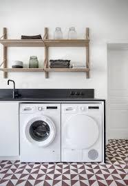 Ces meubles peuvent occuper un mur entier ou un espace plus limité. 50 Coins Buanderie Modernes Mixent Lave Linge Et Seche Linge
