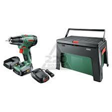 <b>Дрель</b>-<b>шуруповерт Bosch PSR</b> 1440 Li-2 + ящик WorkBox ...