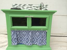 Play Kitchen From Old Furniture Diy Play Kitchen From An Old Nightstand Refresh Living