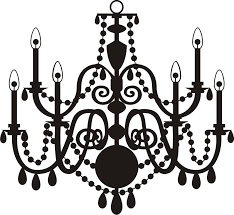 vintage chandelier clip art chandelier clipart vector pencil and in color chandelier