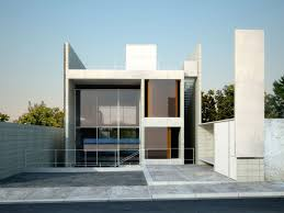 contemporary concrete home designs mixed with very large transpa glass windows in stainless steel frames and floating stairs with glass railling also