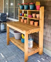 Make It DIY Potting Bench With Sink  Free Pallets Hose Reel And Plans For A Potting Bench