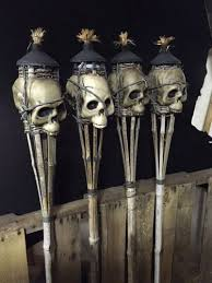 halloween party lighting. halloween tiki torches would be great for an indy themed party lighting