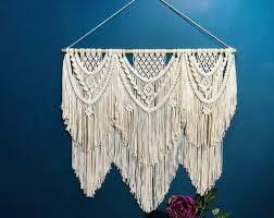 bohemian macrame wall hanging