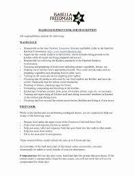 Cook Job Description Resume Best of Customer Service Job Description Resume Fresh 24 Luxury Examples