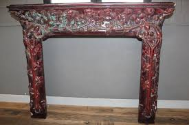 art nouveau fireplace surround stone