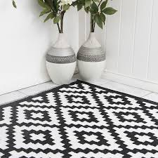 popular of black and white outdoor rug pixel outdoor rug in black white geometric patterned picnic mat