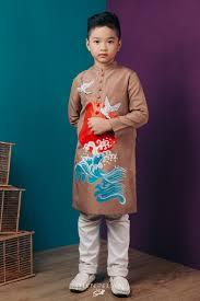 Tổng hợp mẫu áo dài cách tân cho bé trai 2017