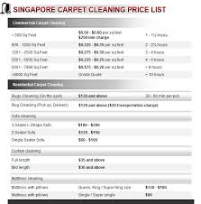 How Much Does It Cost for Carpet Cleaning Services in Singapore