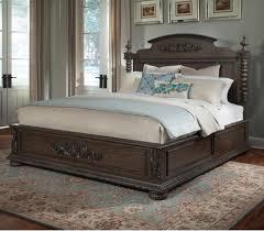 Klaussner Bedroom Furniture Klaussner International Versailles Queen Bed With Bun Feet And