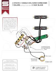 wiring diagrams seymour duncan part 9 Seymour Duncan Wiring Diagram 2 stacks, 1 single coil sized hum, 1 volume push pull 3 coil split, 5 way blade seymour duncan wiring diagrams humbucker