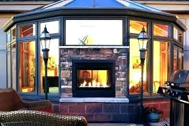 image of 2 sided fireplace bathrooms gas indoor outdoor smoking problems and solutions