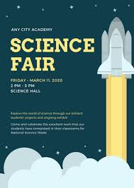 Science Fair Templates Science Fair Brochure Template Blue And Yellow Simple Science Flyer