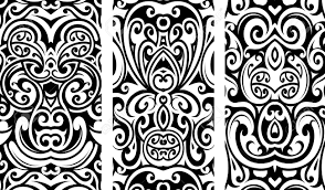Tribal Tattoo Ornament Set With Ethnic Elements
