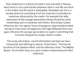 post modernism essay 2 post modernism