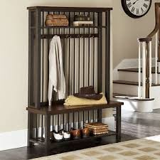 Free Standing Coat Rack With Shelf Free Standing Entry Bench And Coat Rack Entryway Ideas Pinterest 20
