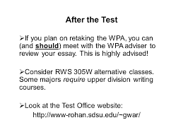 welcome to the writing placement assessment wpa workshop ppt 40 after