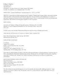 Resume Profile For College Student Resume For Current College Student